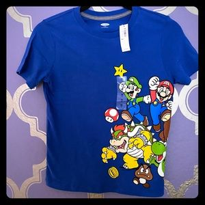 "Super Mario /""Game On!/"" Childs t-shirt SIze 4 7 S 6-7 L 10-12 XL 14-16 New Boys"